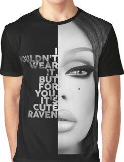 Raven Text Portrait Graphic T-Shirt