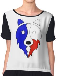 Solid Lone Star Collie Women's Chiffon Top