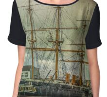 Elegant old lady of war Chiffon Top