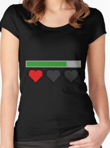 Last Life Retro Hearts Women's Fitted Scoop T-Shirt