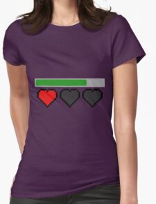 Last Life Retro Hearts Womens Fitted T-Shirt
