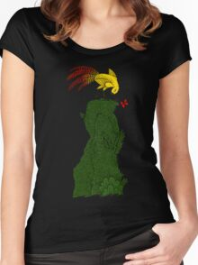 Mythical bird on Mountain top Women's Fitted Scoop T-Shirt