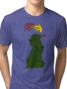 Mythical bird on Mountain top Tri-blend T-Shirt