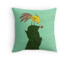 Mythical bird on Mountain top Throw Pillow