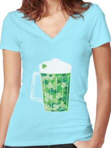 Clover Beer Women's Fitted V-Neck T-Shirt
