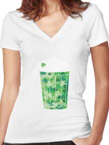 Clover Beer Women's Fitted V-Neck T-Shirt