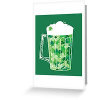 Clover Beer Greeting Card