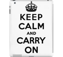 Keep Calm And Carry On iPad Case/Skin