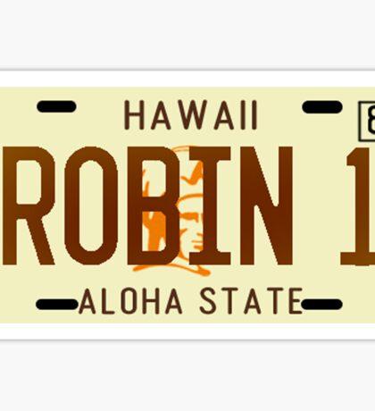 Magnum PI License Plate Sticker