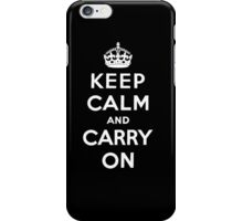 Keep Calm And Carry On iPhone Case/Skin