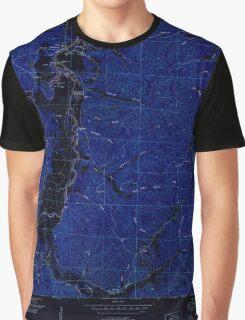 USGS TOPO Map Alabama AL Bishop 303258 1951 24000 Inverted Graphic T-Shirt