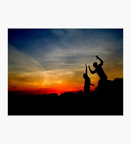 High Five Sunset Photographic Print