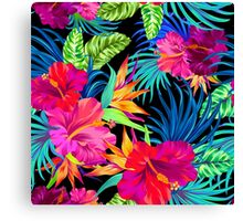 Drive You Mad Hibiscus Pattern Canvas Print
