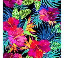 Drive You Mad Hibiscus Pattern Photographic Print