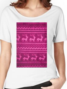Ugly Christmas Sweater Pattern Women's Relaxed Fit T-Shirt