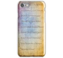 Spanish alphabet vintage poster iPhone Case/Skin