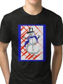 A Frosty Snowman DP150903c Tri-blend T-Shirt