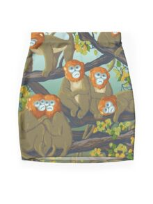 Monkeys Mini Skirt