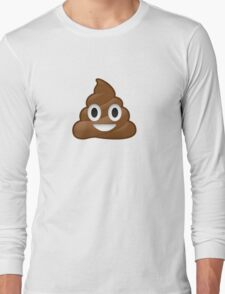 Poop Emoji Long Sleeve T-Shirt