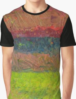 Abstract Landscape Series - Lake And Hills Graphic T-Shirt