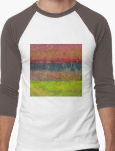 Abstract Landscape Series - Lake And Hills Men's Baseball ¾ T-Shirt