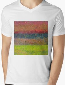 Abstract Landscape Series - Lake And Hills Mens V-Neck T-Shirt