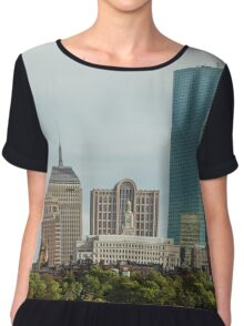 Downtown Boston Chiffon Top