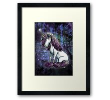 The Sad Unicorn Framed Print
