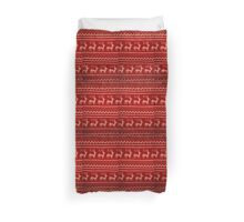 Ugly Christmas Sweater Pattern Duvet Cover