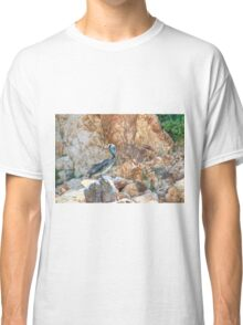 Lonely wild brown pelican HDR Classic T-Shirt