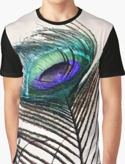 Coloured Feather Graphic T-Shirt