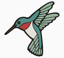 Hummingbird Pattern  Baby Tee