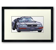 Street Fighter II Car Framed Print