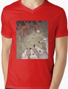 Fox Hunt Mens V-Neck T-Shirt