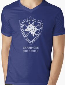 LEICESTER CITY OLD LOGO CHAMPIONS. Mens V-Neck T-Shirt
