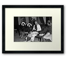 1940s Found Photo Halloween Card - Masked Partiers 3 Framed Print
