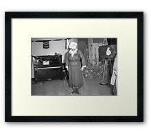 1940s Found Photo Halloween Card - Jump Rope Lady Framed Print