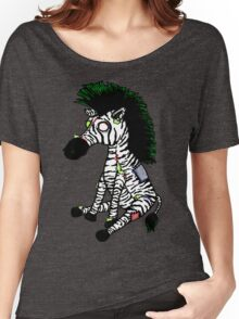 Zazzles the Zombie Zebra Women's Relaxed Fit T-Shirt