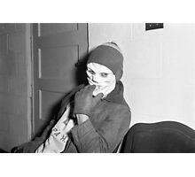 1940s Found Photo Halloween Card - Skeleton Man Photographic Print