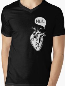 "Heart- ""Meh..."" Mens V-Neck T-Shirt"