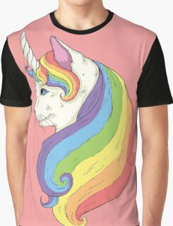 Cat Unicorn Graphic T-Shirt