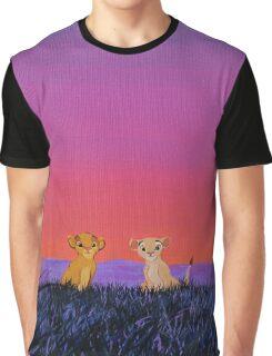 The Lion King - Simba and Nala in Savannah Graphic T-Shirt