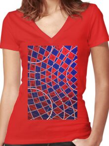 Computer art Women's Fitted V-Neck T-Shirt