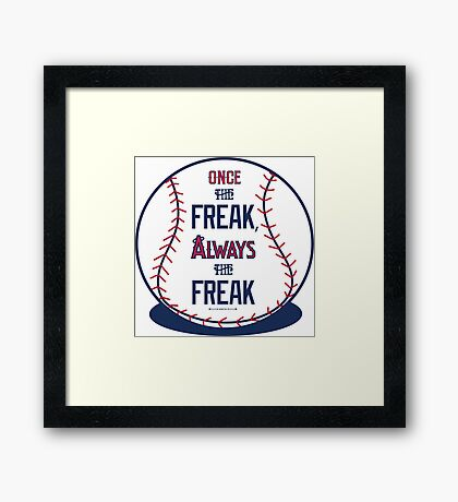 "Tim Lincecum ""The Freak"" Angels shirt Framed Print"