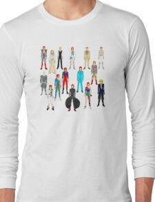 Bowie Scattered Fashion Long Sleeve T-Shirt
