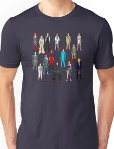 Bowie Scattered Fashion Unisex T-Shirt