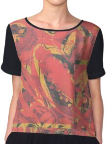 Fruit and Seeds Red/Yellow Chiffon Top