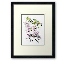 A Flower & Mechanical Wasp Framed Print