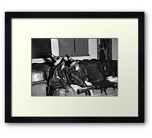 1940s Found Photo Halloween Card - Twin Witches 2 Framed Print