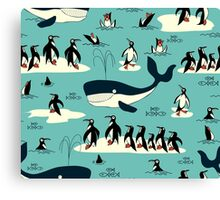 Whales, Penguins and other friends Canvas Print